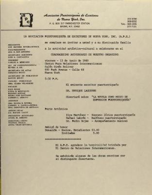 Cuadragésimo Aniversario de Nuestro Organismo / 40th Anniversary of Our Organization