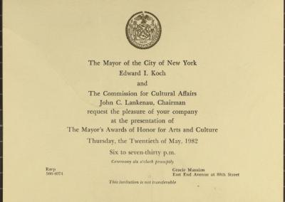 The Mayor's Awards of Honor for Arts and Culture