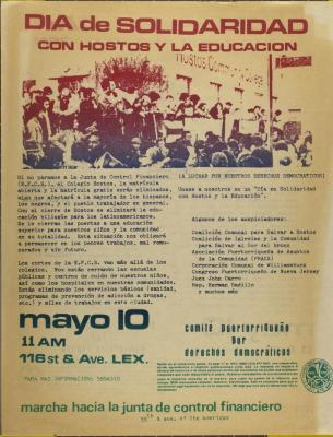 Día de Solidaridad Con Hostos Y La Educación / Solidarity Day With Hostos And Education