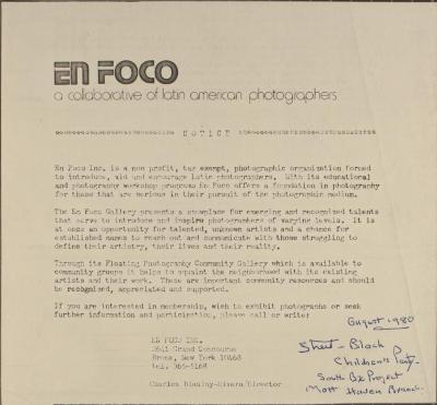 En Foco (In Focus) - A Collection of Latin American Photographs
