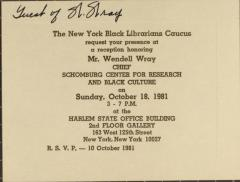 Reception Honoring Mr. Wendell Wray