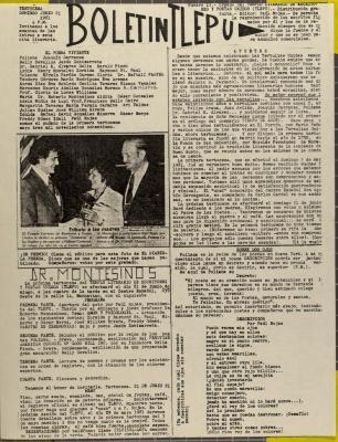 Boletín Tlepu / Bulletin Tlepu