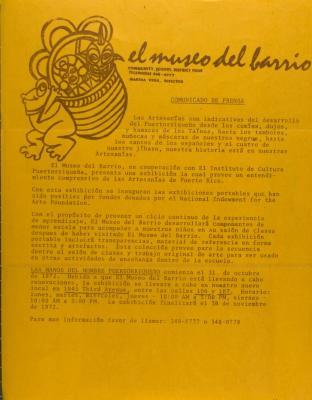 El Museo Del Barrio - Comunicado de Prensa / Press Release