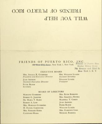 Friends of Puerto Rico, Inc.