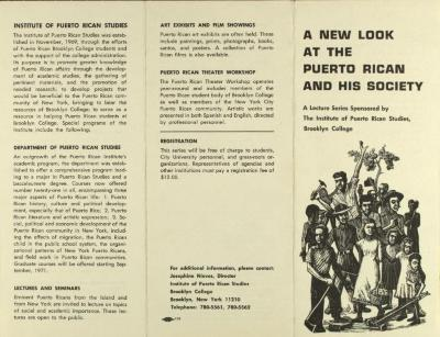 A New Look at the Puerto Rican and His Society
