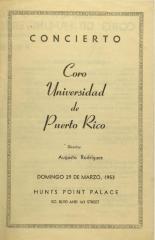 Coro Universidad de Puerto Rico / University of Puerto Rico Choir