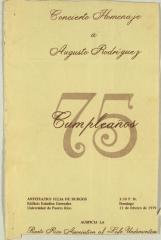 Concierto Homenaje a Augusto Rodriguez / Concert Tribute to Augusto Rodriguez