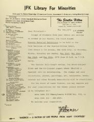 Correspondence from JFK Library for Minorities
