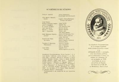 Academia Norteamericana de la Lengua Española / American Academy of the Spanish Language