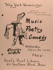 Music Poetry Comedy