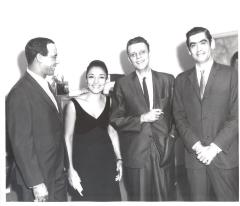 Bobby Capó, Miriam Colón, René Marqués at the opening of La Carreta (The Oxcart)
