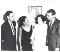 Dr. Charles Pilditch, Miriam Colón, Stella Holt and René Marqués at La Carreta (The Oxcart) opening