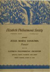 Elizabeth Philharmonic Society Presents Jesus Maria Sanroma
