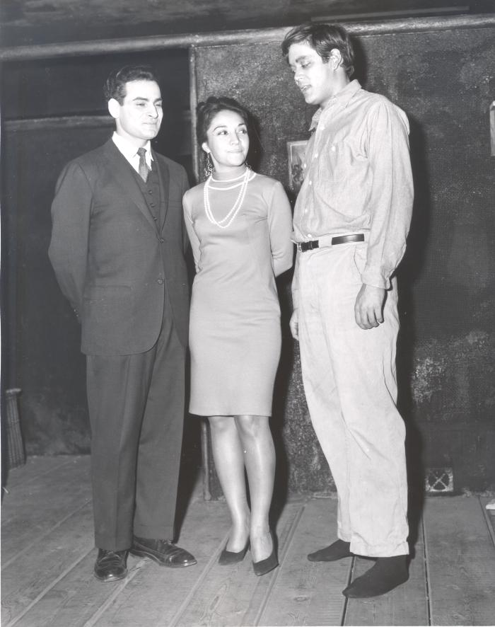 Miriam Colón with Raúl Juliá (at right) for the Puerto Rican Traveling Theatre's production of La Carreta (The Oxcart)
