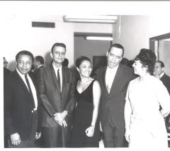 René Marqués, Miriam Colón, and Bobby Capó at the opening of La Carreta (The Oxcart)