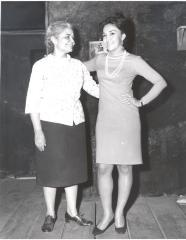 Lucy Boscana and Miriam Colón of the Puerto Rican Traveling Theatre's production La Carreta (The Oxcart)