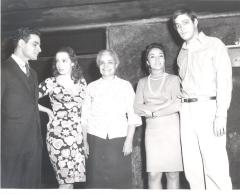 Miriam Colón, Lucy Boscana, Raúl Juliá, and the Puerto Rican Traveling Theatre's production of La Carreta (The Oxcart)
