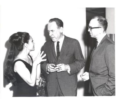Miriam Colón with others at the opening of La Carreta (The Oxcart)