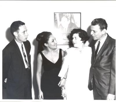 Dr. Charles Pilditch, Miriam Colón, Stella Holt and René Marqués at La Carreta (The Oxcart) opening