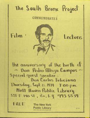 The Anniversary of the Birth of Don Pedro Albizu Campos