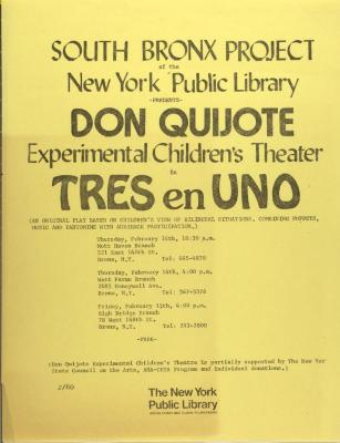 Don Quijote Experimental Children's Theater in Tres en Uno