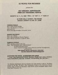 52 People for Progress Presents the Ray Miranda Amphitheater Three-Day Inaugural Festival