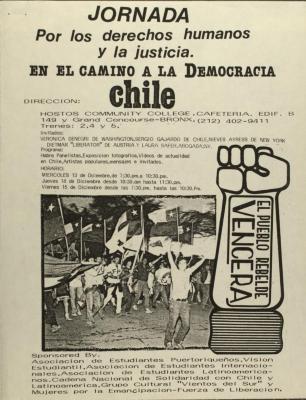 Jornada por los derechos humanos y la justicia en el camino a la Democracia de Chile/ Conference for human rights and justice on the road to democracy in Chile
