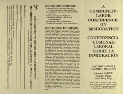 A Community Labor Conference on Immigration