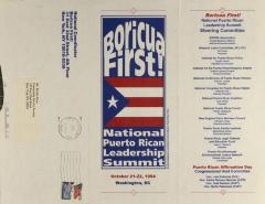 Boricua First! National Puerto Rican Leadership Summit brochure