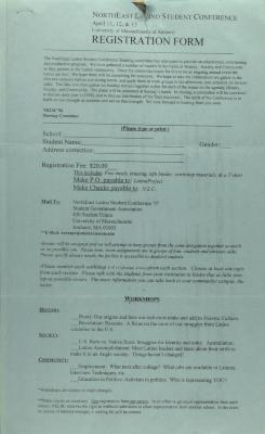 Northeast Latino Student Conference registration form