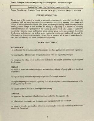 Introduction to Community Organizing