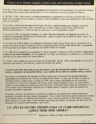 Cosas Que Debes Saber Acerca Del Reverendo Rubén Díaz / Things You Should Know About Reverend Rubén Díaz