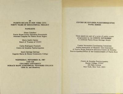 Centro de Estudios Puertorriqueños Panel Series