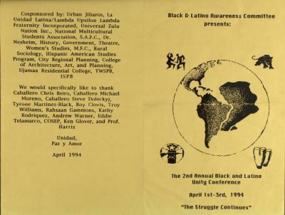 The 2nd Annual Black and Latino Unity Conference