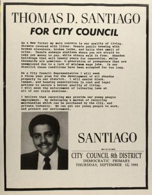 Thomas D. Santiago for City Council