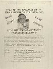 Tell Mayor Giuliani We've Had Enough of His Garbage - Stop the Spread of Waste Transfer Stations!