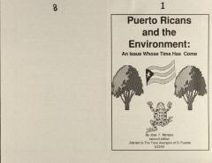 Puerto Ricans and the Environment: An Issue Whose Time Has Come