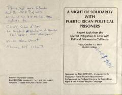 A Night of Solidarity with Puerto Rican Political Prisoners