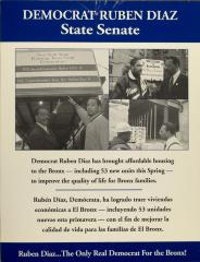 Democrat Rubén Díaz - State Senate
