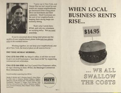When Local Business Rents Rise . . . We All Pay the Price