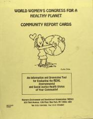 World Women's Congress for a Healthy Planet - Community Report Cards