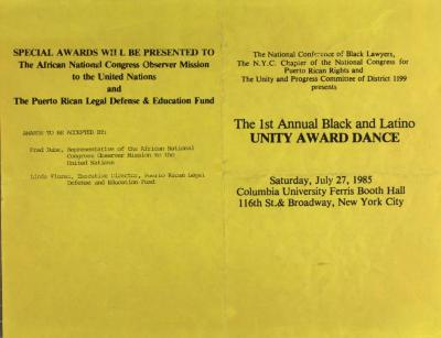 The 1st Annual Black and Latino Unity Award Dance
