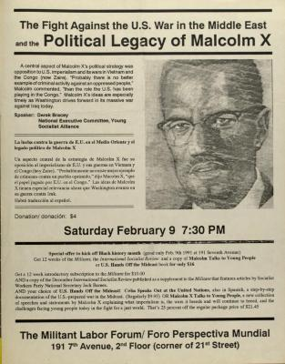 The Fight Against the U.S. War in the Middle East and the Political Legacy of Malcolm X