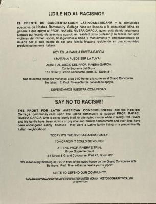 Dile No Al Racismo! / Say No To Racism!