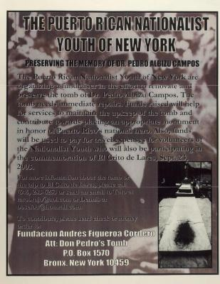 The Puerto Rican Nationalist Youth of New York - Preserving the Memory of Dr. Pedro Albizu Campos