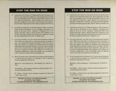 Stop The War On Iraq!