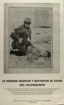 La Marina Auspicia y Raytheon Se Lucra Del Colonialismo / The Navy Sponsors and Raytheon Profits from Colonialism