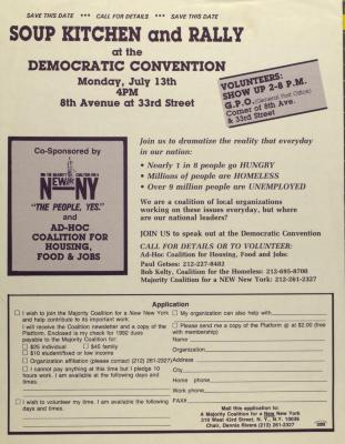 Soup Kitchen and Rally at the Democratic Convention