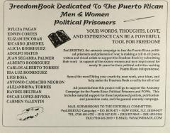 FreedomBook Dedicated to the Puerto Rican Men & Women Political Prisoners