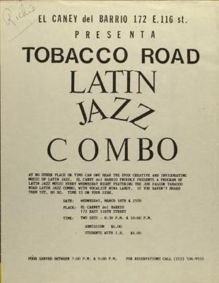 Tobacco Road Latin Jazz Combo